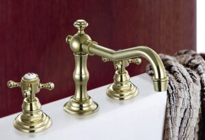Home Cleaning Tips Tricks and Routines. Clean brass taps and washbasin in bathroom