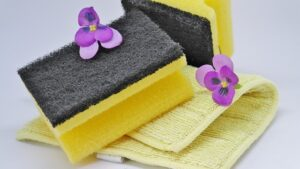 Home Cleaning Tips Tricks and Routines. Scouring sponges and cleaning cloth