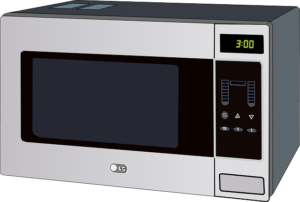 clean microwave with soft cloth