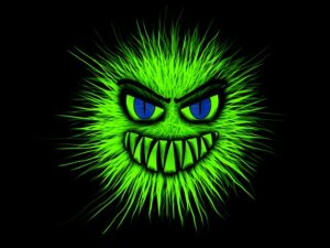 The Secret Language of Relationships . A green jealousy gremlin with evil face image