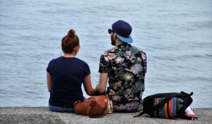 The Secret Language of Relationships A couple talking and sharing their experiences