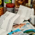 Meal Planner Grocery List. Keep shopping receipts from the till in a box