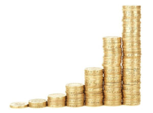 Image of piles of money. Your money growing.
