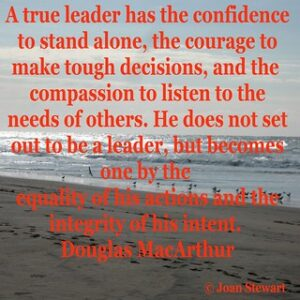 Guidance with Granny Integrity the meaning, Douglas MacArthur on Businesses confidence.