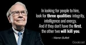 Guidance with Granny Integrity the meaning Warren Buffet on hiring people